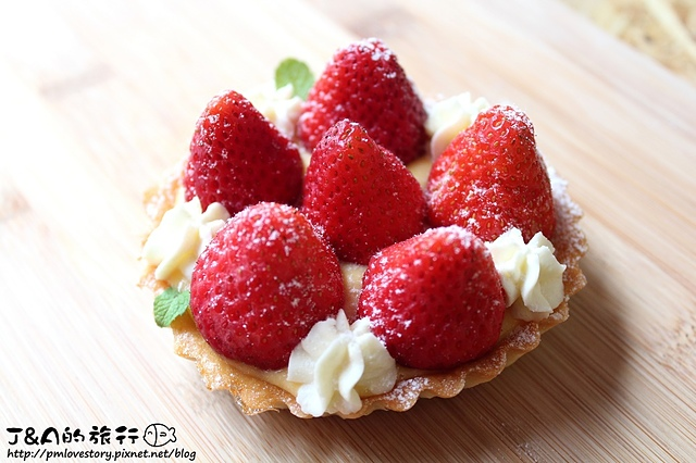 【捷運忠孝新生】華山那間18plus 手工甜點鹹派–百香草莓塔,草莓酸甜多汁!