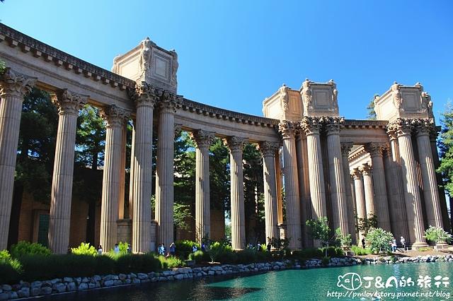 【美國西岸/舊金山San Francisco】藝術宮 Palace of Fine Arts–The Rock絕地任務拍攝場景~細緻的雕刻,每個角落都是美景!